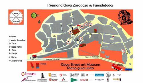 Mapa del Art Street Museum